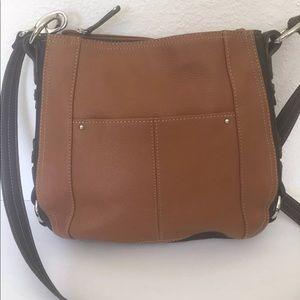 Tignanello Leather Bag Messenger Crossbody Brown